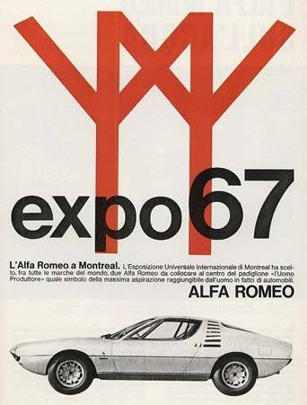 Blog Image for Throwback Thursday Alfa Romeo Ad for Montreal Expo