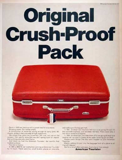 Blog Image for Throwback Thursday American Tourister Ad is Crush-Proof