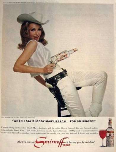 Blog Image for Throwback Thursday Smirnoff Ad with Julie Newmar
