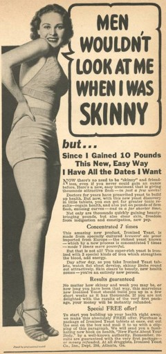 Blog Image for Throwback Thursday Too Skinny Ad