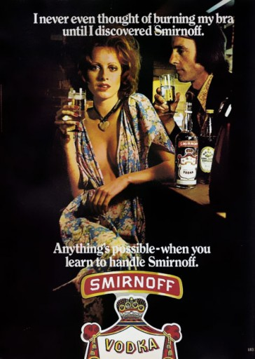 Blog Image for Throwback Thursday Smirnoff Bra Burning