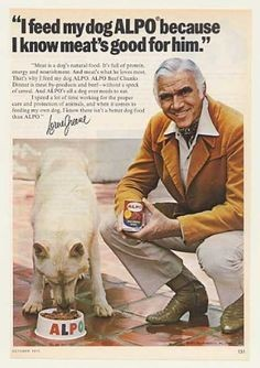 Blog Image for Throwback Thursday Lorne Greene for Alpo