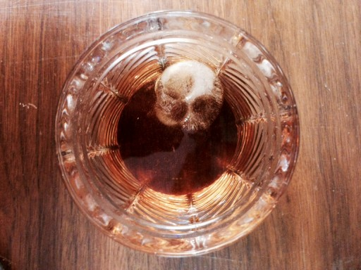 Blog Image for Cocktail Friday Skull Ice Cubes in Bourbon