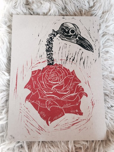 Blog Image for Art Tuesday - Lino Cuts