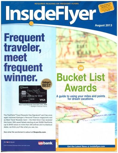 Media Scan for Inside Flyer Magazine