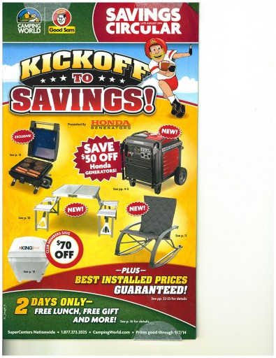 Media Scan for Camping World Catalog Blow In