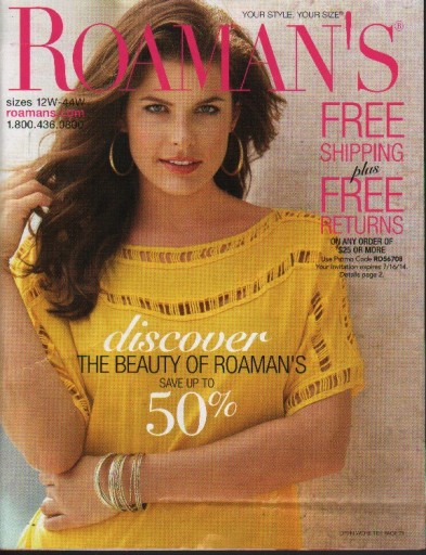 Media Scan for Roaman's Catalog Blow-In Program