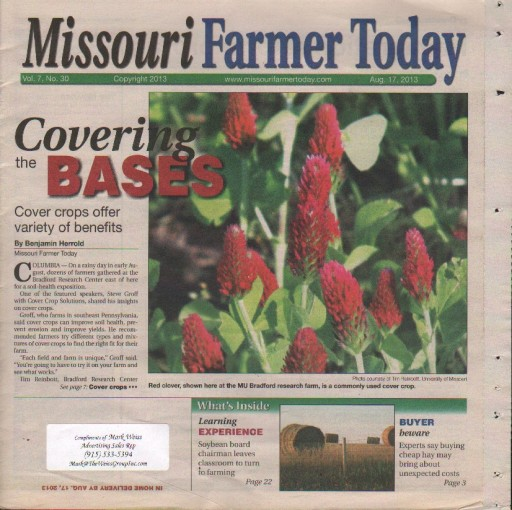 Media Scan for Missouri Farmer Today