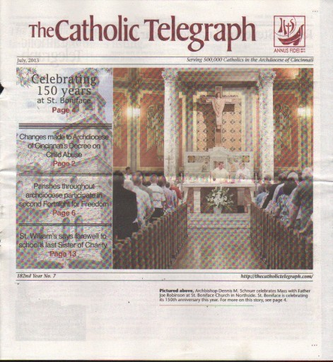 Media Scan for Cincinnati Catholic Telegraph