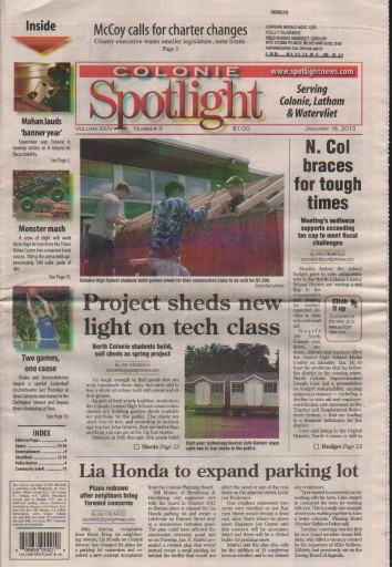 Media Scan for Colonie Spotlight
