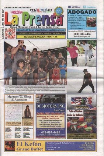Media Scan for La Prensa Ohio