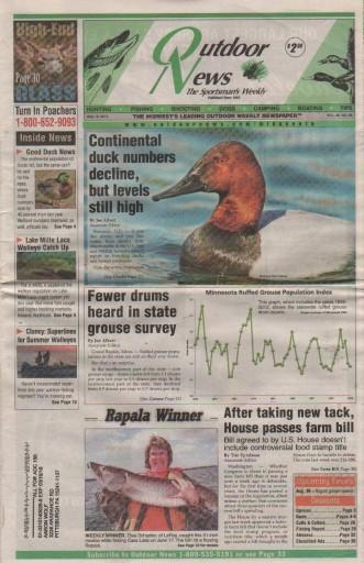 Media Scan for Minnesota Outdoor News