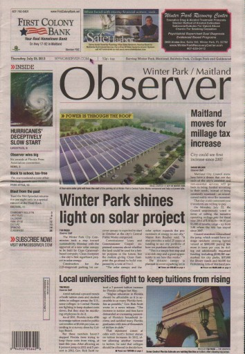 Media Scan for Winter Park / Maitland Observer
