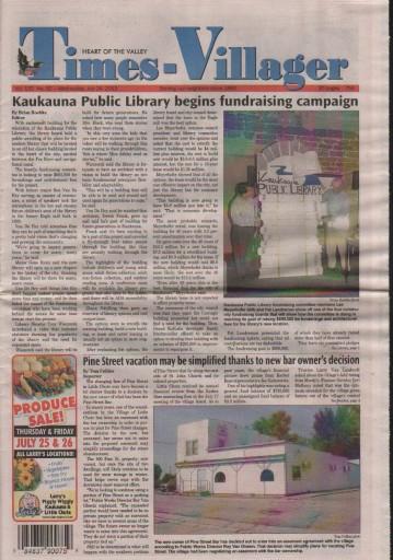 Media Scan for Kaukauna Times-Villager