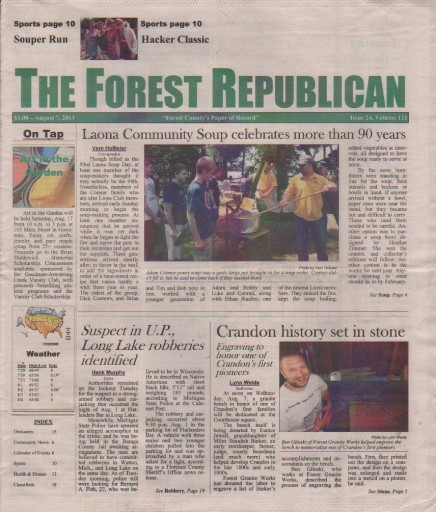 Media Scan for Crandon Forest Republican