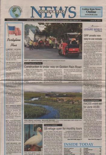 Media Scan for Seal Beach Leisure World Golden Rain News