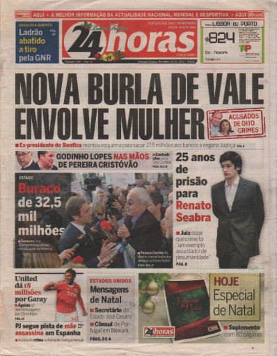 Media Scan for 24horas- Portuguese Daily Newspaper