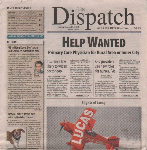 Media Scan for Moline Dispatch