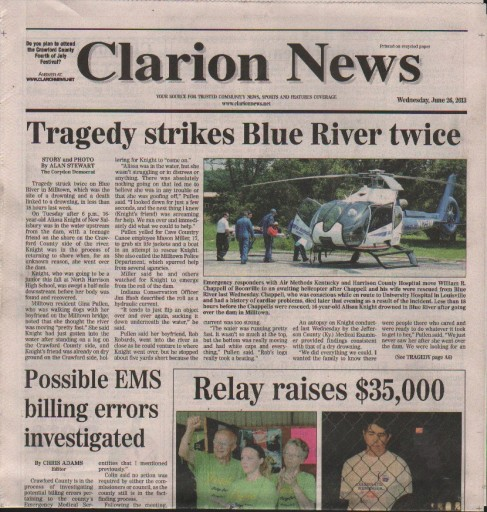 Media Scan for Crawford Clarion News