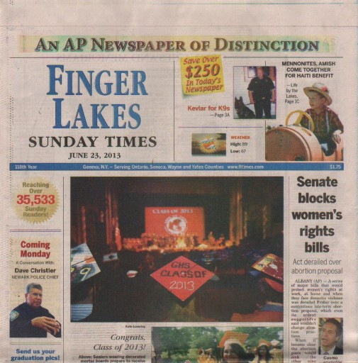 Media Scan for Geneva Finger Lakes Times