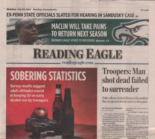 Media Scan for Reading Eagle