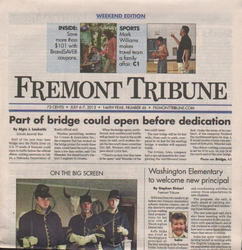 Media Scan for Fremont Tribune