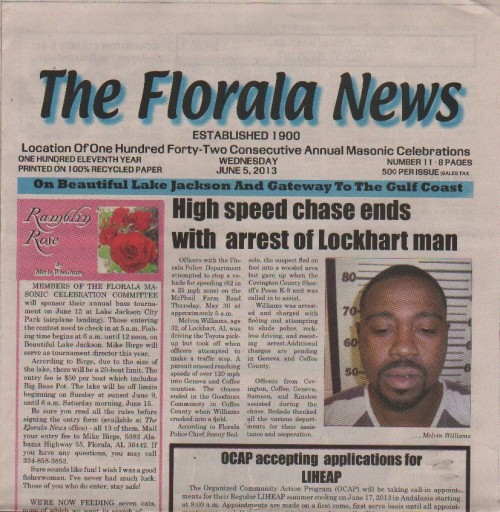 Media Scan for Florala News