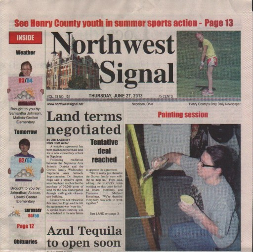 Media Scan for Napoleon Northwest Signal