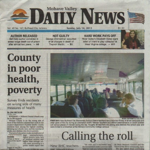 Media Scan for Bullhead City Mohave Valley Daily News