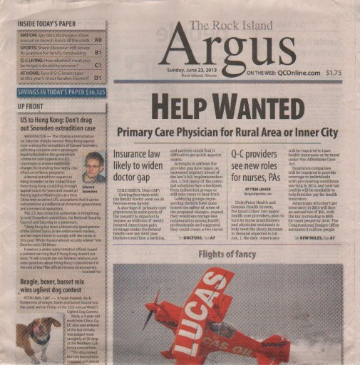 Media Scan for Rock Island Argus
