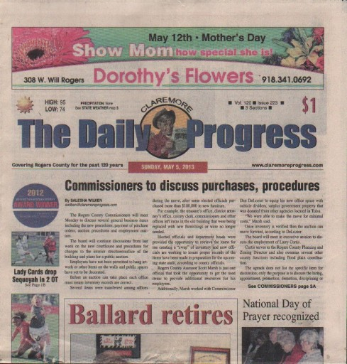 Media Scan for Claremore Daily Progress