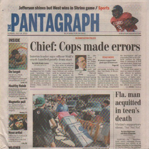 Media Scan for Bloomington Pantagraph