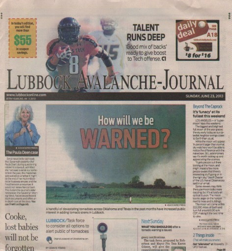Media Scan for Lubbock Avalanche Journal