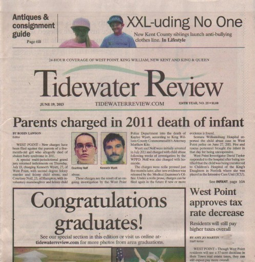 Media Scan for Westpoint Tidewater Review