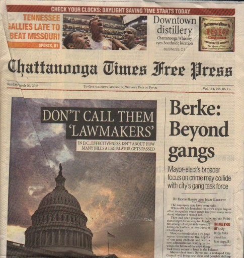 Media Scan for Chattanooga Times Free Press