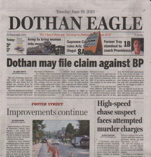 Media Scan for Dothan Eagle