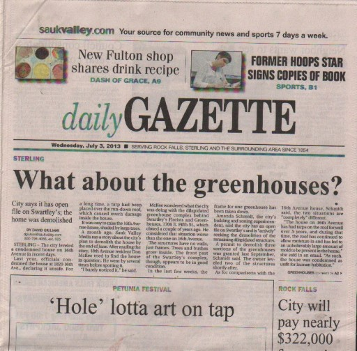 Media Scan for Sterling Daily Gazette