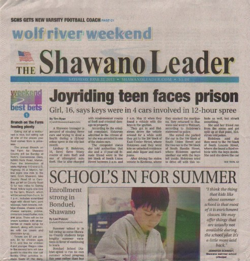Media Scan for Shawano Leader