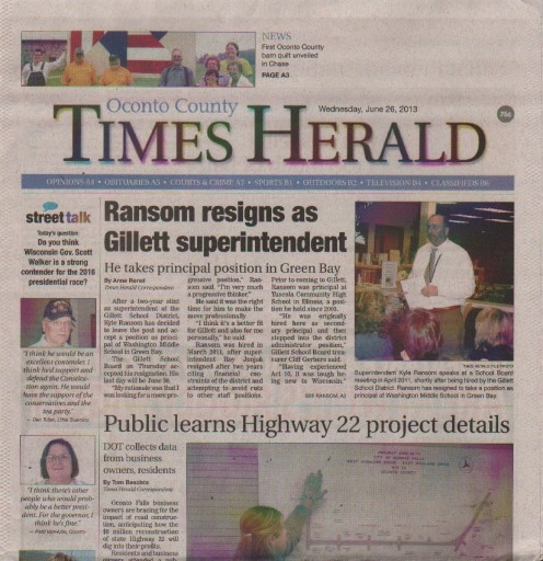 Media Scan for Oconto County Times-Herald