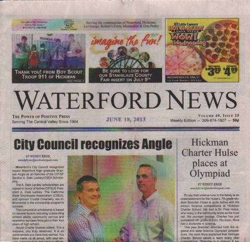 Media Scan for Waterford News