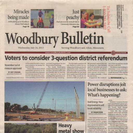 Media Scan for Woodbury Bulletin