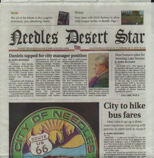 Media Scan for Needles Desert Star