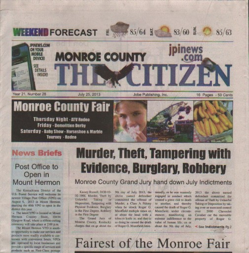 Media Scan for Monroe County Citizen