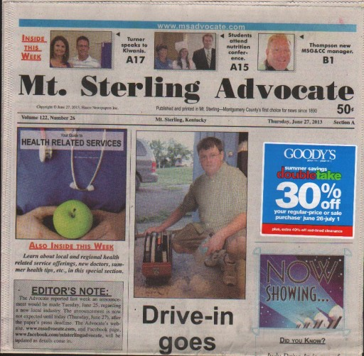 Media Scan for Mt. Sterling Advocate