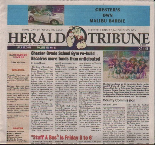 Media Scan for Chester Herald Tribune