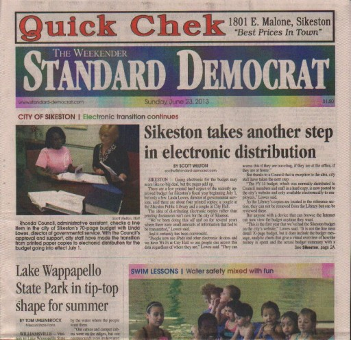 Media Scan for Sikeston Standard-Democrat