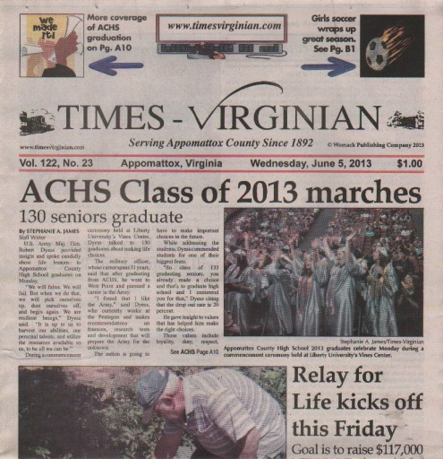 Media Scan for Appomattox Times-Virginian