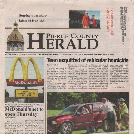 Media Scan for Pierce County Herald