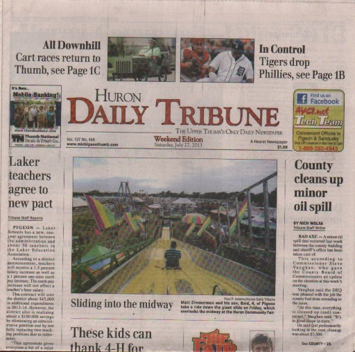 Media Scan for Bad Axe Huron Daily Tribune