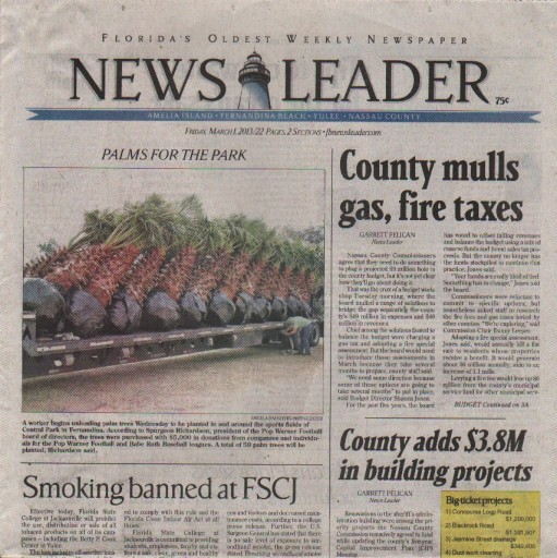 Media Scan for Fernandina Beach News Leader